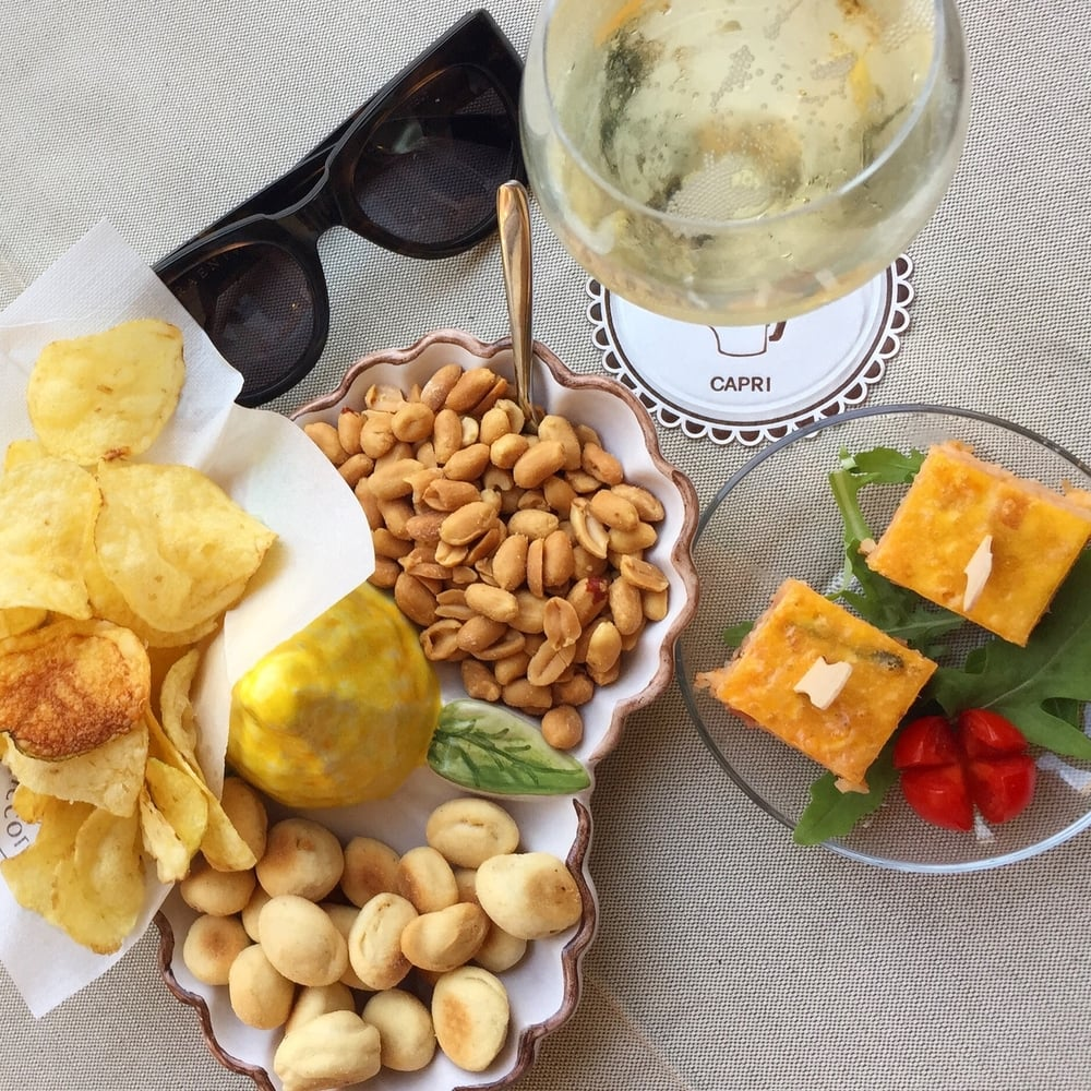 Capri: and snacks, a.k.a.  aperitivos...