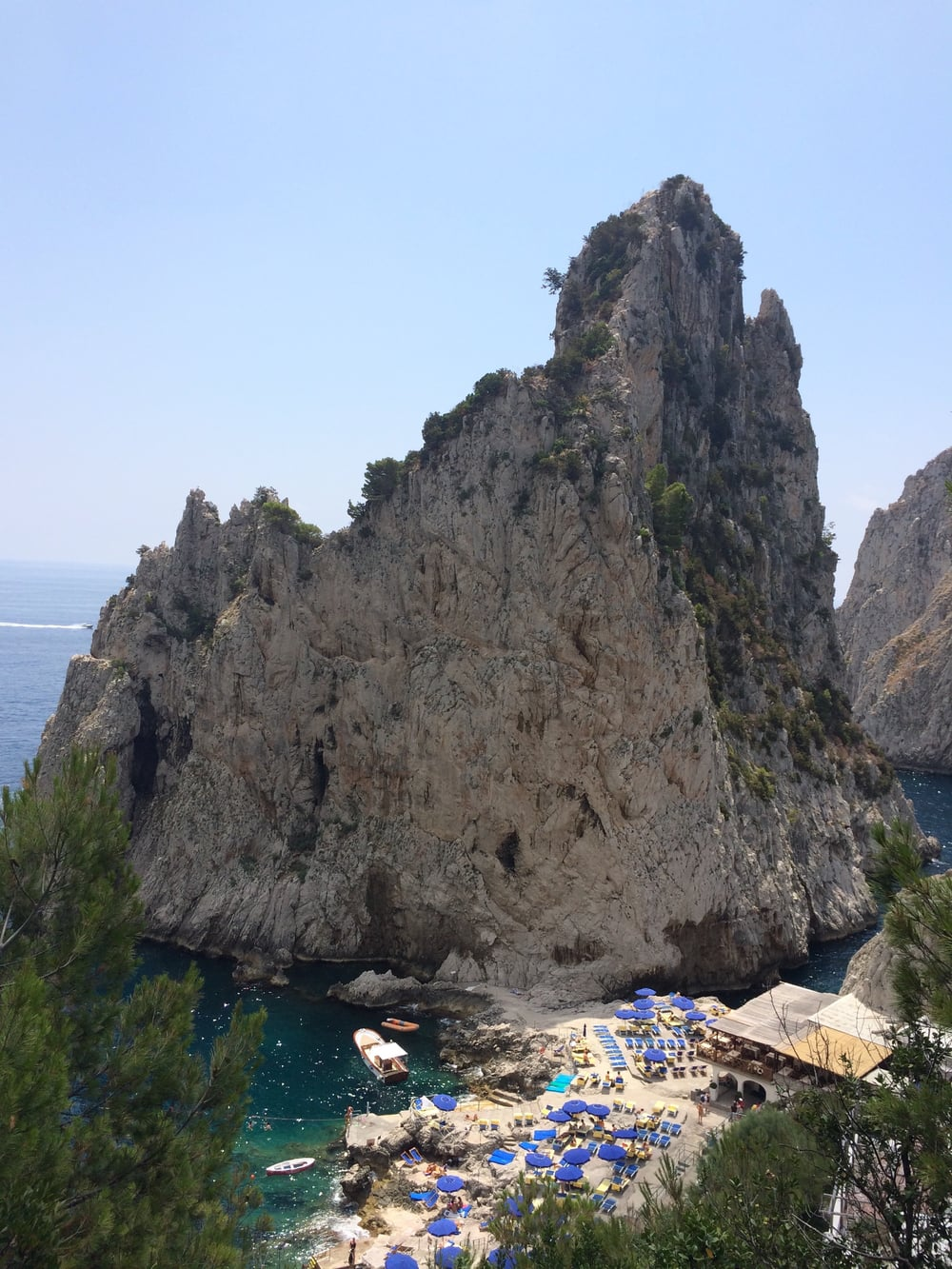 Capri: and beach clubs...