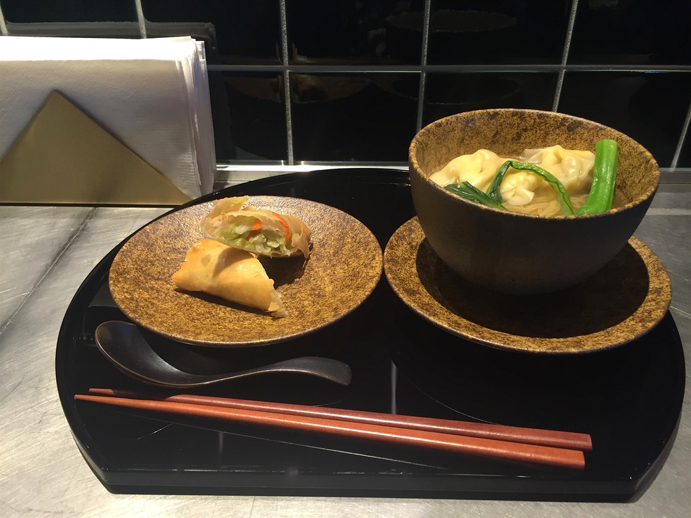 Wonton noodle soup, a key dish you can find at The Noodle Bar in many of Cathay's lounges around the world.