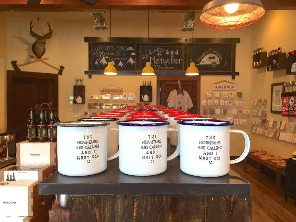 "Shop ::  Meriwether of Montana , a cheeky-cool gift shop — so popular they are now selling their wares across the country — with campy mugs, handkerchiefs, and humorous keychains with inscriptions such as ""Humble with a dash of Kanye,"" scattered throughout the store."