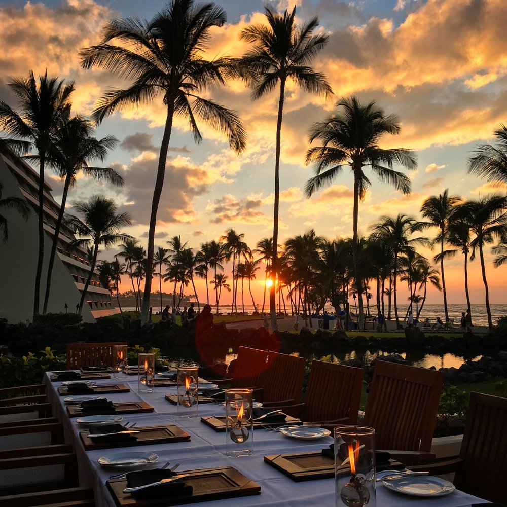 Savoring the sunset and farm- and fish-to-fork cuisine at  The CanoeHouse , a Hawaii must-eat since 1989.