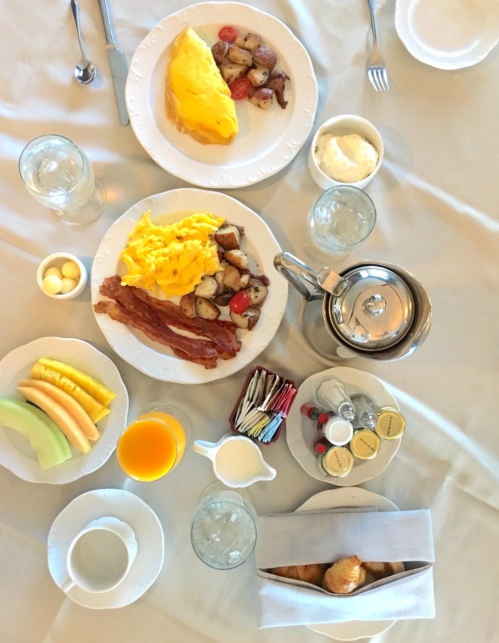 Room service breakfast, obvi.
