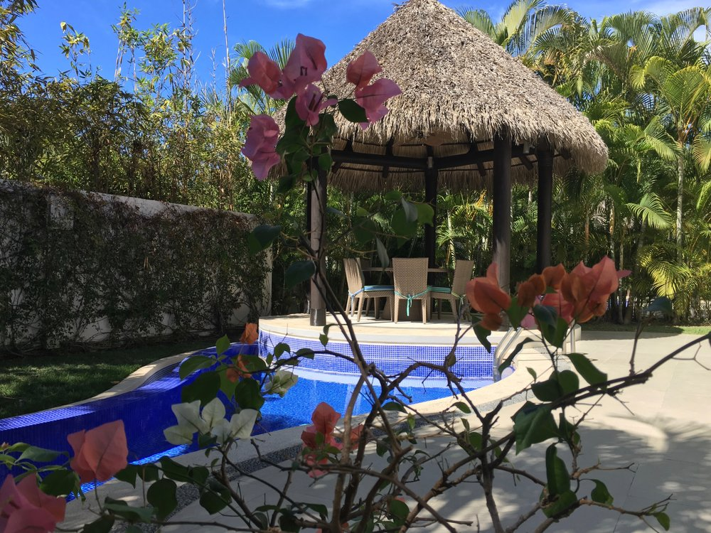 The second week we stayed at another all-suite resort closer to Puerto Vallarta. Our three-bedroom room was more than enough space for all of us, but on the last night we were upgraded to a villa with its own palapa and plunge pool.