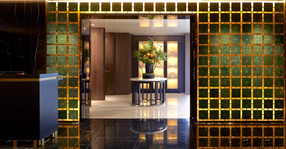 Talk about an entrance. Before you even enter Yan Toh Heen, custom jade gates made from the restaurant's original gemstone tableware make for a wow-factor arrival.