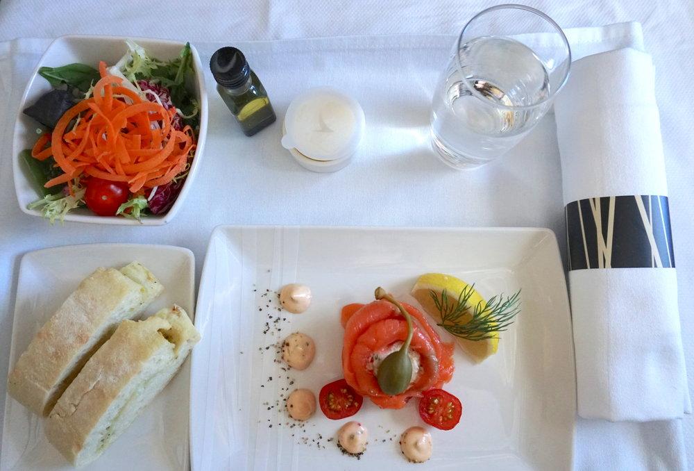 Business Class cuisine
