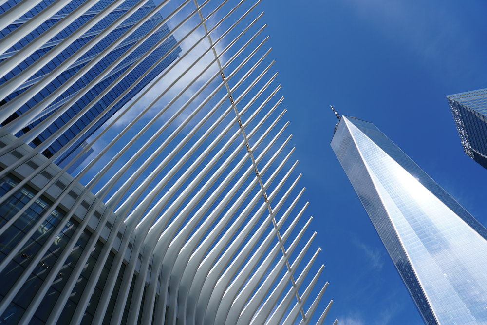 Oculus and a side of One World Trade Center.