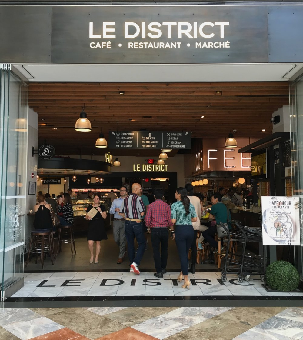 The 30,000-square-foot French food emporium {and my happy place}: Le District.