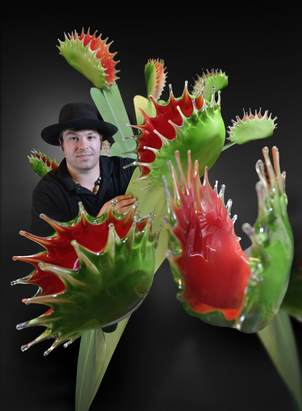 Carnivorous II with additions portrait 2013 Glass and Steel copy.jpg