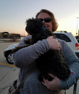 Bringing Fable (now Duncan) home, March 28, 2016