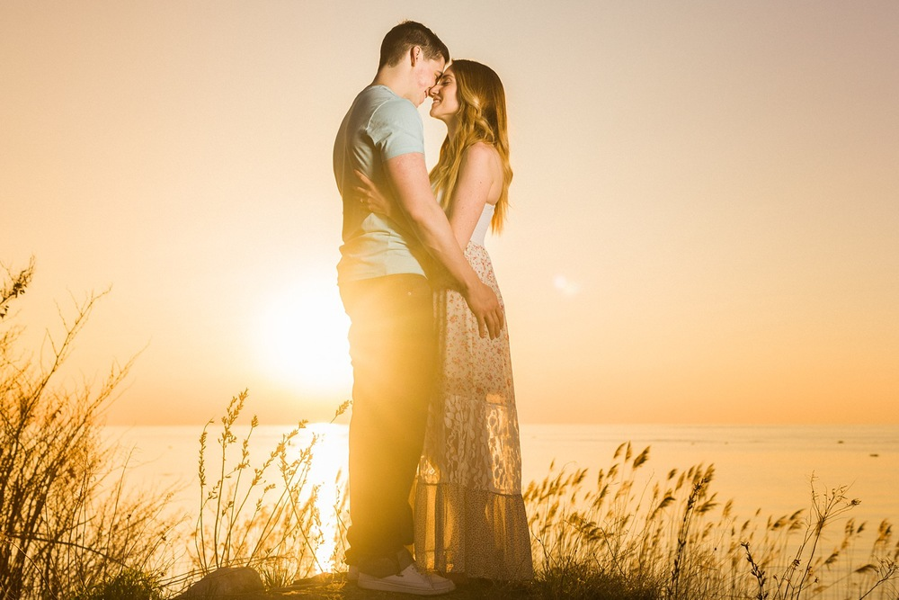 Kettle Point Sunset Engagement