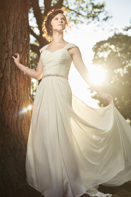 Sun soaked Bride Portrait in Windsor.