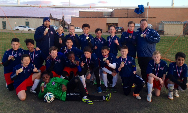 Scottish United Under 14 Tier II Boys - Gold Medal at the Duggan Tournament