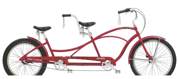 Electra Hellbetty Tandem Maui rental bicycle by Electra is perfect for cruising Lahaina Town