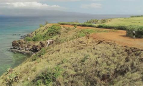 Maui mountain biking at Honolua Bay in West Maui past Kapalua.