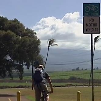Public bike paths on Maui.