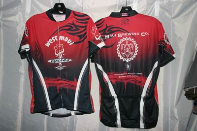 West Maui Cycles and Maui Brewing Maui bicycle jersey