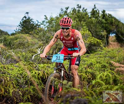 2012 XTerra World Champion on the bike trail in West Maui.