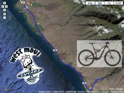 A West Maui bike ride to the Olowalu petroglph from Lahaina.