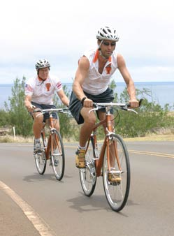 Riding bicycles in West Maui!