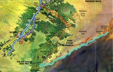 Haleakala maui mountain bike trails on Maui, the Haleakala Skyline mtb trail.