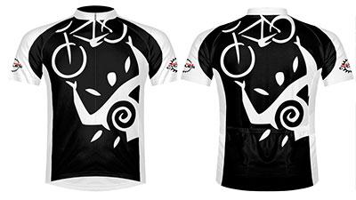 Maui petroglyph bike jersey at West Maui Cycles.