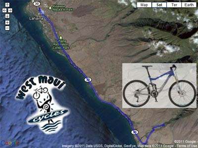 Olowalu petroglyph bike route for Maui bicycle rides