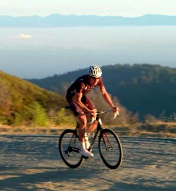 Biking on Maui.