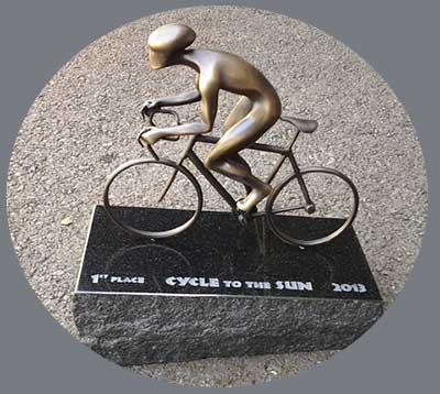 The 2013 Cycle to the Sun Maui Road Bike Race Trophy