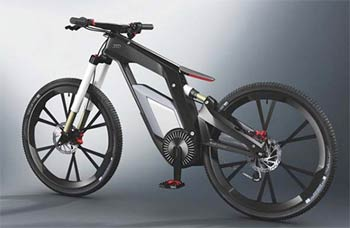 An image of the Audi electric bike.