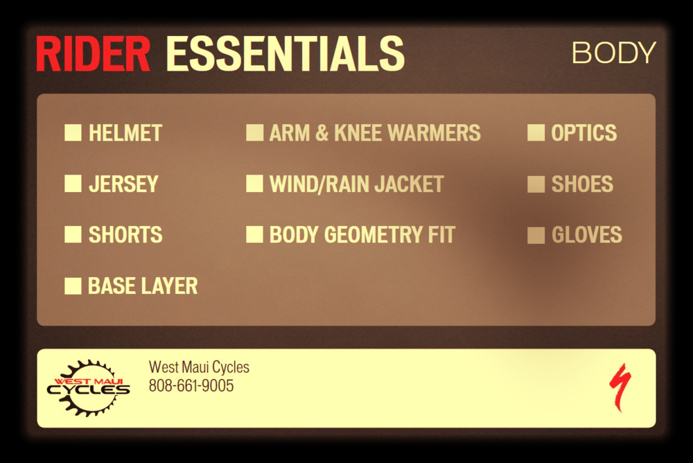 Specialized Rider Essentials Card