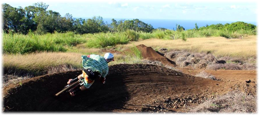 Bike Park Maui berms