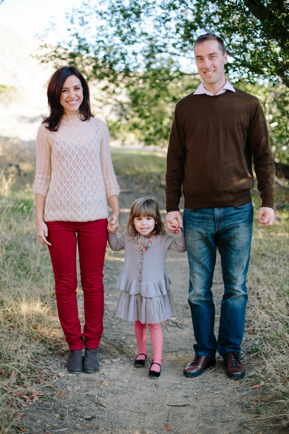 Family Portrait Photograher Anise LeAnn with family of 3 in Marin County, California.