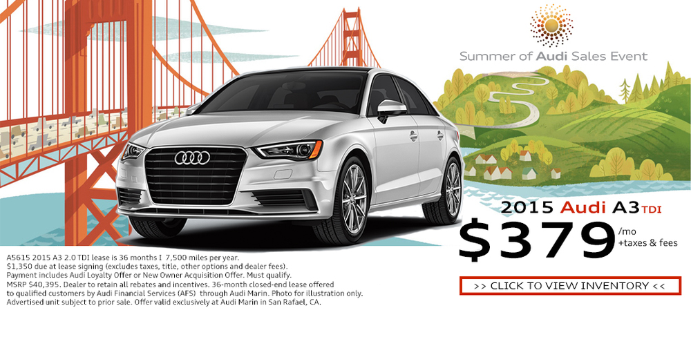 Online special made for Audi Marin