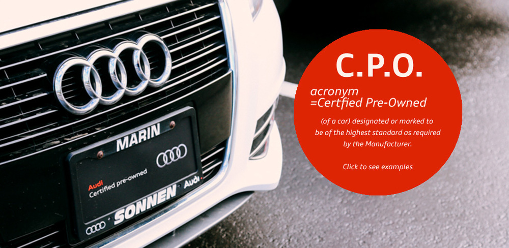 CPO slide made for Audi Marin