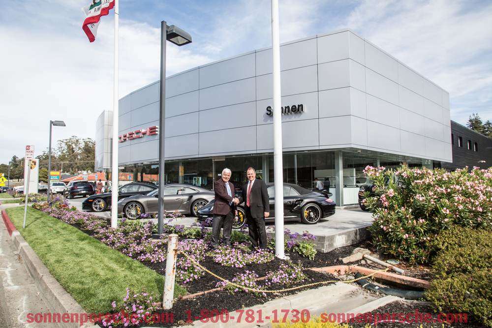 Image for Sonnen Porsche with Owner Peter Sonnen & General Manager Bill to announce store re-opening.