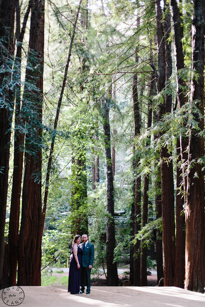 Couple from Connecticut flies to San Francisco to get married under Golden Gate Bridge, with Wedding Portrait Photography session by Anise LeAnn in Old Mill Park Mill VAlley Marin California
