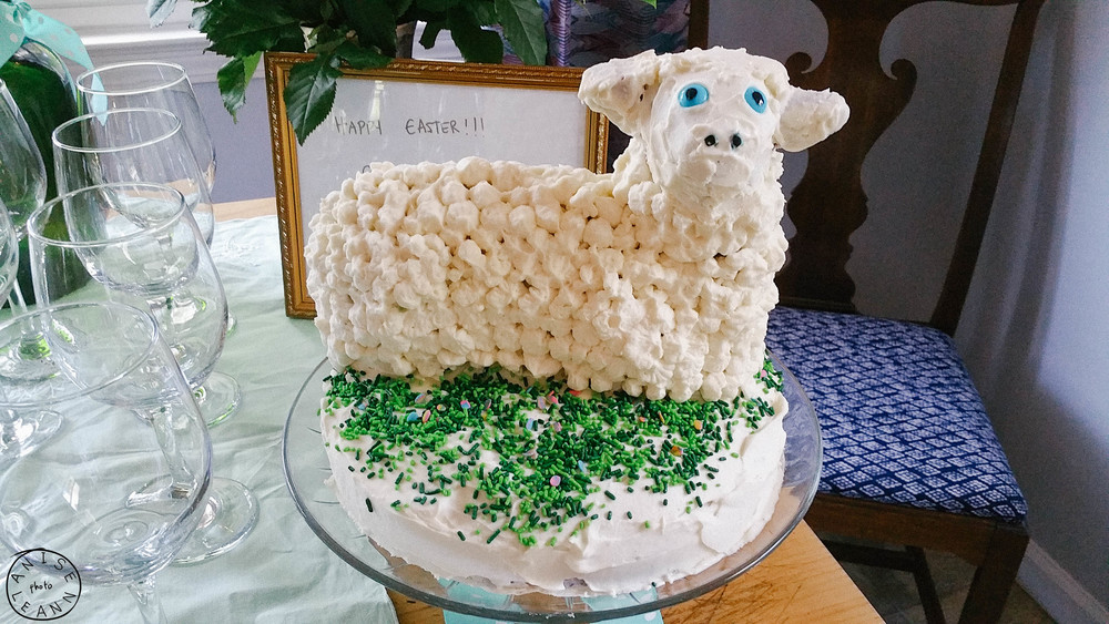 Our First Lambie Cake!