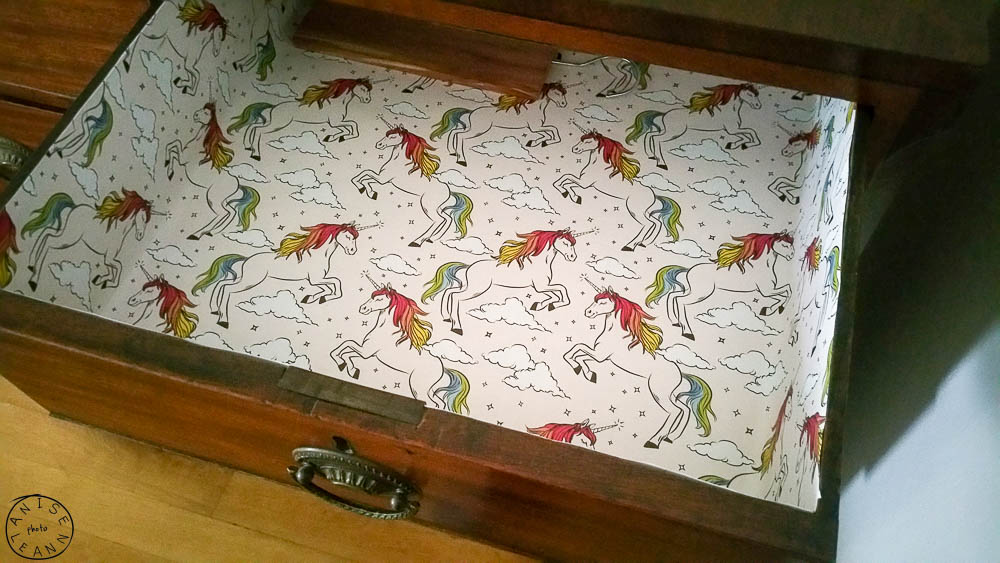 Unicorn lined drawers