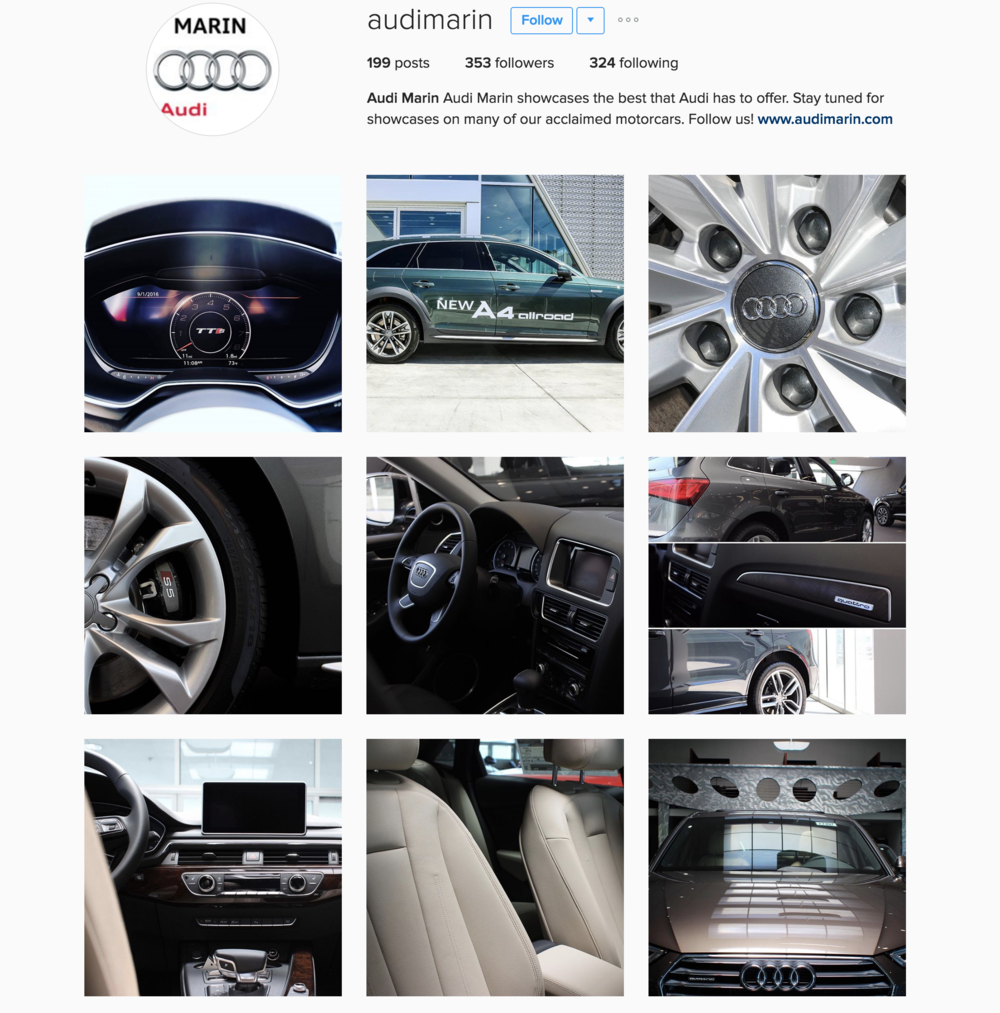 Audi Marin Instagram Account