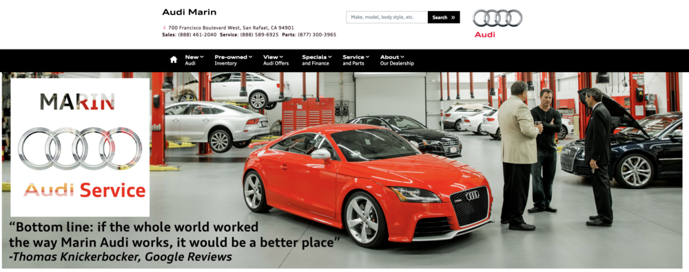 Banner slide for Audi Marin