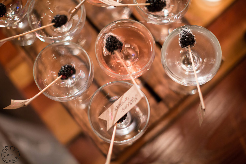 Blackberry Champagne Name Tags