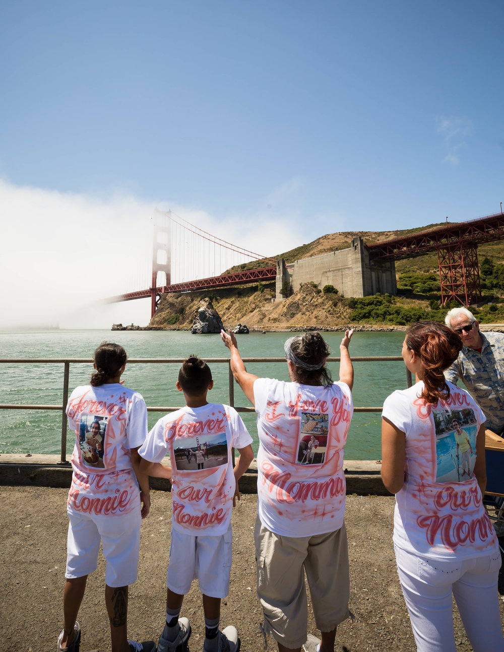 Doves Release at Golden GAte bridge, California