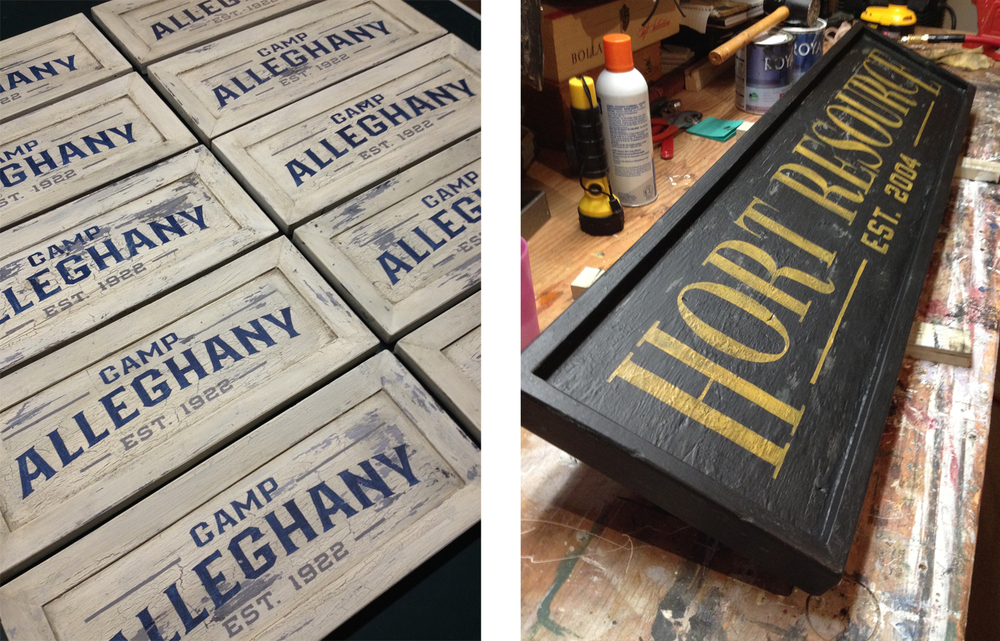 The vintage-style sign craftsmanship of Rod Vogel.