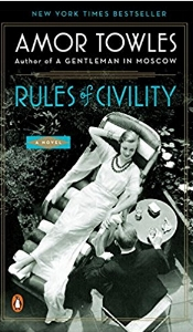 Rules of Civility - Amor Towles - Incredible, beautifully written story of a woman in the wildness of NY in the 1930sBest part - the author spent a few hours every Sunday for a year to write this book which was published in 2011, was a New York Times bestseller and was named by the Wall Street Journal as one of the best books of 2011! The book has been translated into 15 languages, its French translation receiving the 2012 Prix Fitzgerald. In the fall of 2012, the novel was optioned by Lionsgate to be made into a feature film