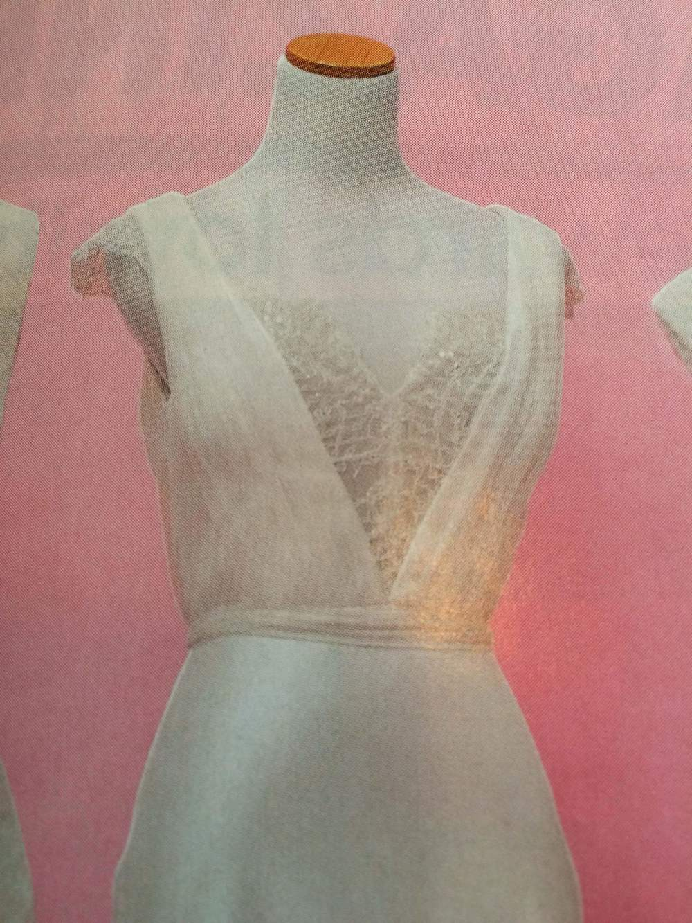 Low Back French Lace 'Belle Gown' featured in CosmoBride