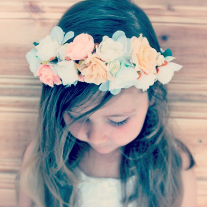 Floral headband by Lilly and Lace