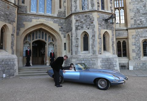 Meghan Markle Prince Harry Royal Wedding Car Blue.jpg