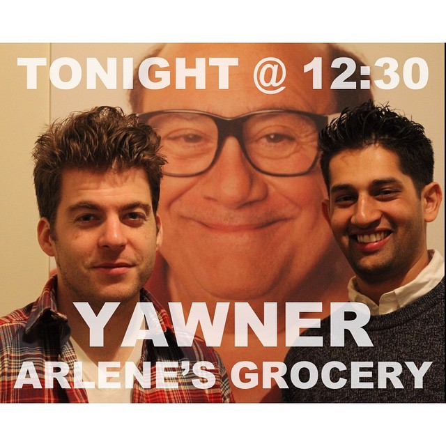 Sandeep, Krishna, Danny Devito's head, and I expect to see you tonight at @arlenesgrocery. We only have your best interest in mind.