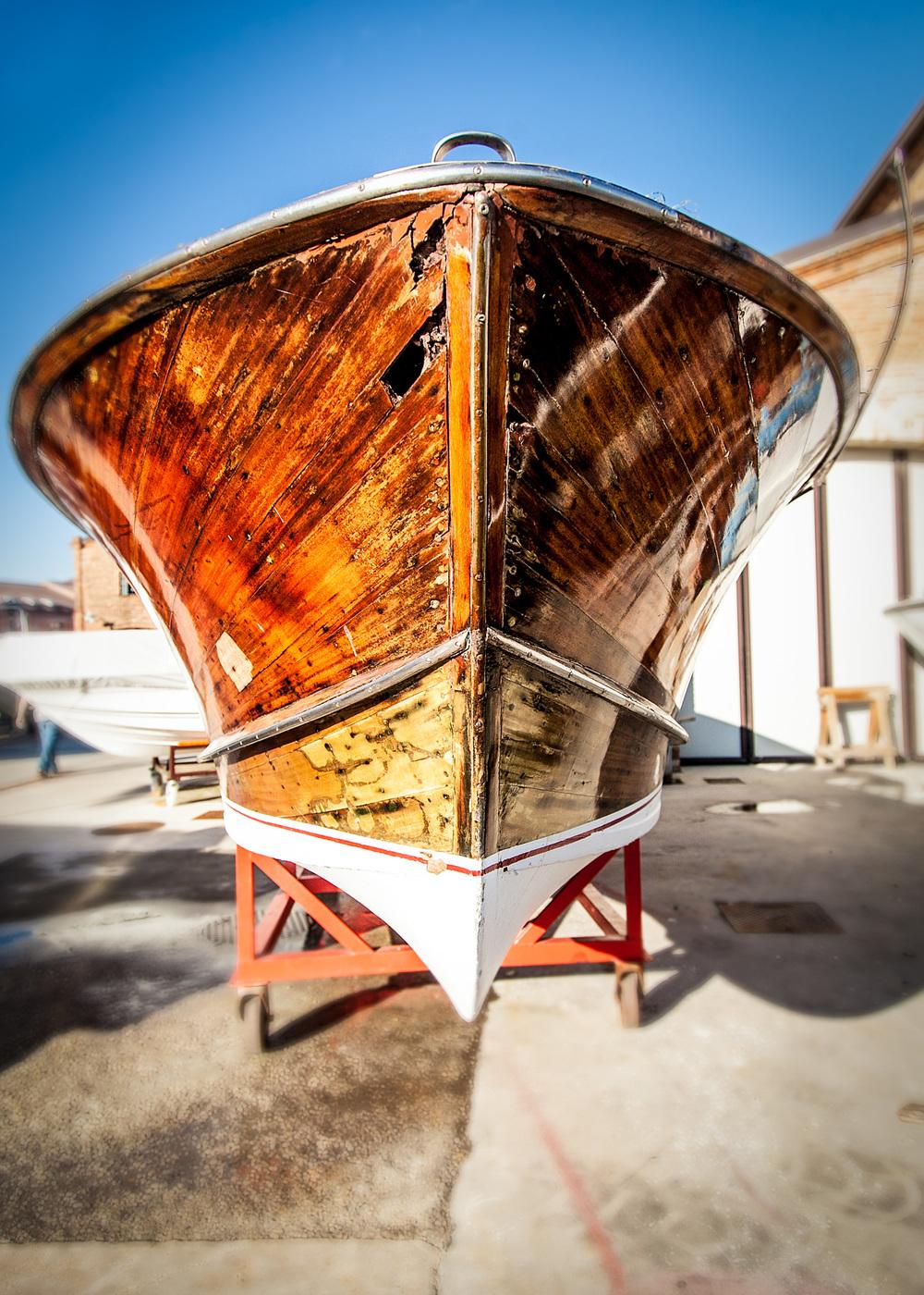 Boat repair yard in Giudecca Island across from Venice