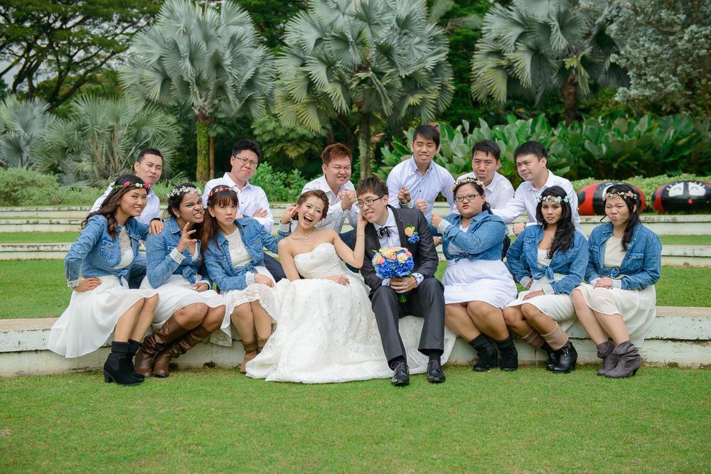 hort park wedding couple